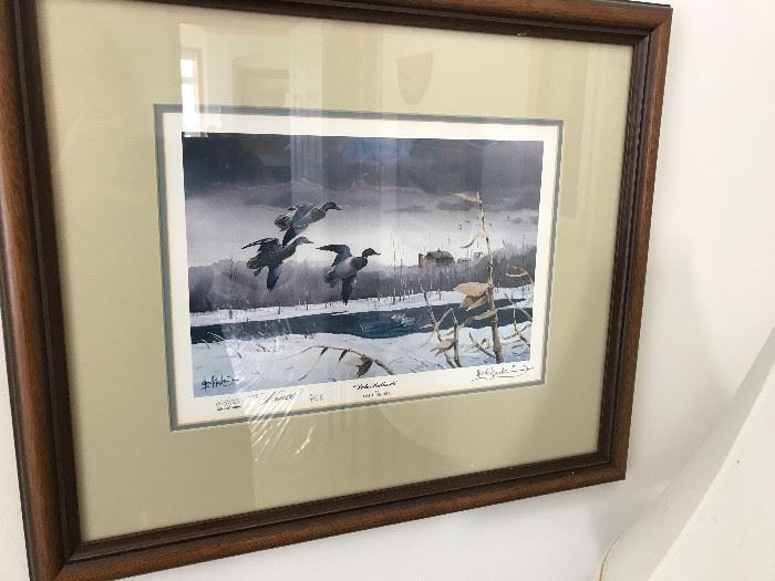 Les Kouba signed and numbered print Late Mallards