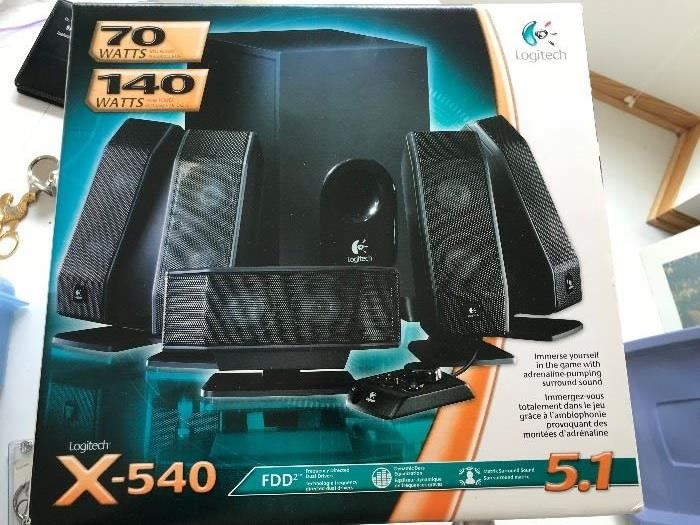 New in unopened box Logitech x-540 Sound system for gaming
