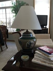 Various Oriental themed lamps