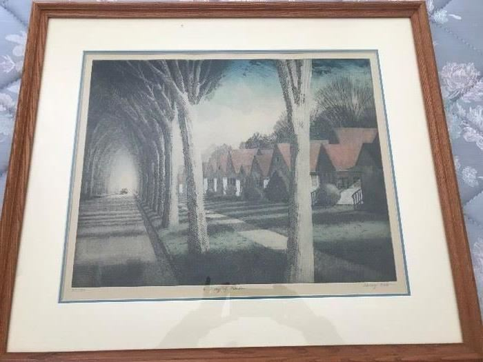 Signed and numbered Lithograph by Larry Welo