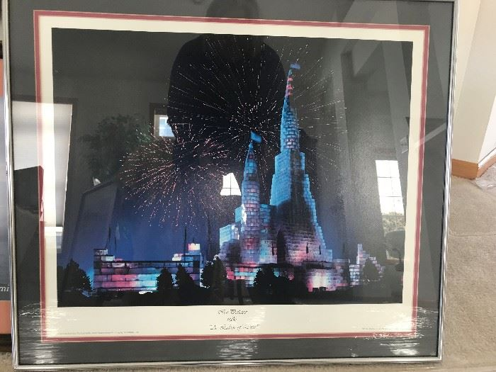 St. Paul Ice Palace framed and matted print