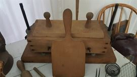 Rare 5 lb butter mold press