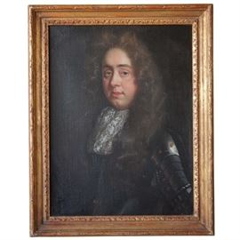 Lot 0027 English 17th century Oil on Canvas Portrait Painting  Starting Bid $500