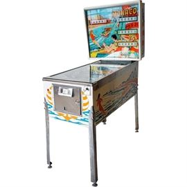 Lot 0033 Vintage Spanish Segasa Monaco Pinball Machine Starting Bid $500