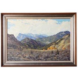 Lot 0099 JAMES EMERY GREER Oil Painting, The Elk Range, Colorado Starting Bid $350