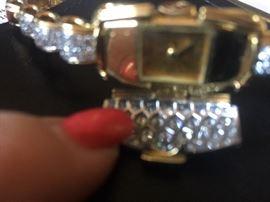 18k Neiman Markus diamond watch