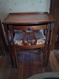 Neat as a pin small vanity table with chair