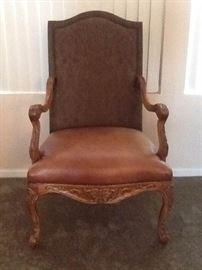 Bassett Leather Arm Chair