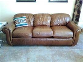 Lane Leather Sleeper Sofa