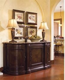 $4,100 Thomasville Bibbiano Marble -Top Sideboard - Hills of Tuscany Collection