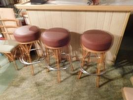 Heywood  Wakefield    swivel  bar  stools