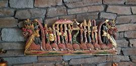 Thai Dragon Boat Wall Carving