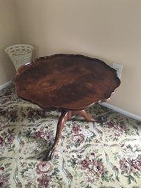 Antique pie crust, low table
