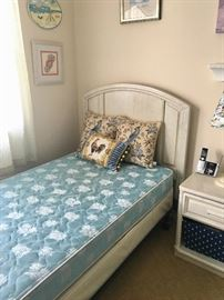 Pair twin beds & furniture