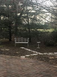 Patio bench & furniture