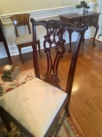 Detail of dining chairs