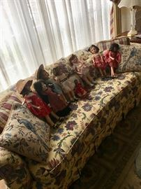 Key City - Floral & bird upholstered sofa, like new