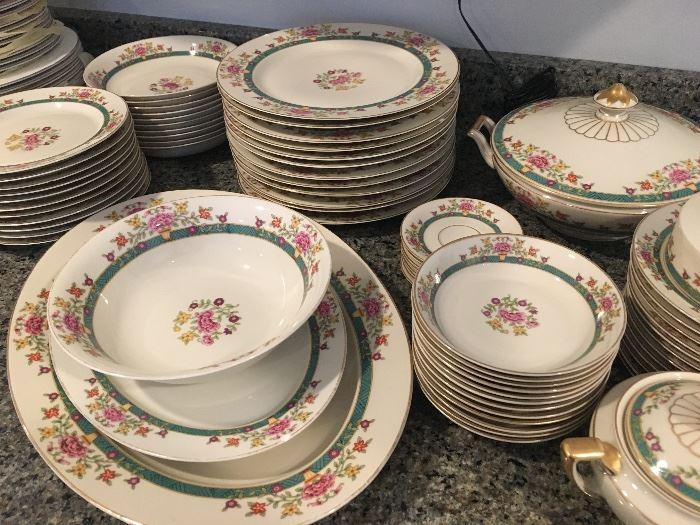 Selb, Bavaria Heinrich - service for 12 - Vintage set of dishes