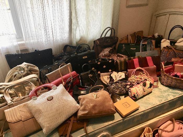 Bags inc. Fendi, Cole Haan, Michael Kors, Longchamp, formal, leather totes