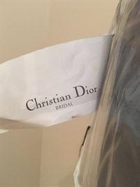 Dior formal navy blue gown