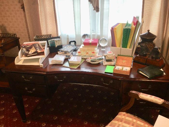 Beautiful leather top desk