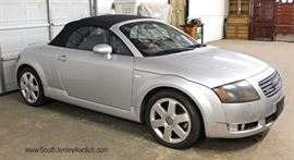 SUMMERS COMING — TIME DROP THE TOP  with This South Beach Miami 2001 Audi TT Quattro Roadster  6 Speed Convertible with Baseball Glove Leather Interior,  2 Brand New Tires, AM/FM 6 Disk CD Player, Power Windows, Power Locks,  and Power Top, Odometer Reads 107 Miles,  Comes with Clean Carfax and all Service Records From Dealer Located Inside – Auction Estimate $4000-$8000