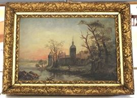 19TH Century Oil on Canvas in Original Gilt Frame Located Inside - Auction Estimate $200-$400