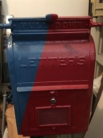 Vintage cast iron mail box
