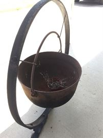 Cast Iron kettle and stand