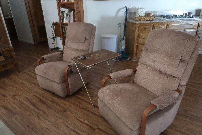 Pair of vintage chairs.