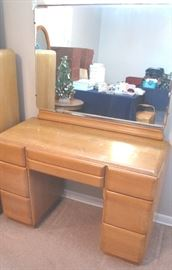 Matching Heywood Wakefield vanity/dresser with mirror.