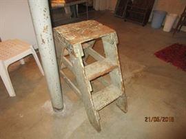 Very primitive ladder/step stool