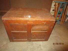 storage box converted from old ice box