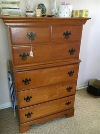 Vintage maple chest of drawers.