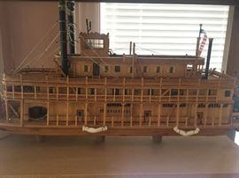 Model Mississippi River Steam ship