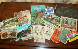 Some of the vintage postcards and ephemera available