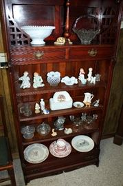Milk glass, Fenton, and other collectibles