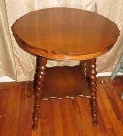 Gorgeous Antique Barley Twist Side Table