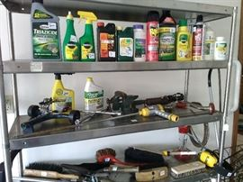 Fertilizers and yard tools