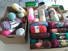 10 boxes of yarn!