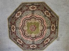 "Octagonal Persian Style Area Rug 54""       http://www.ctonlineauctions.com/detail.asp?id=703555"