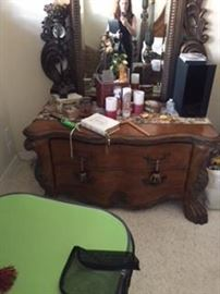 Vintage Furniture Lions Paw Nightstand