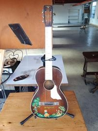 1930's Harmony Parlor Guitar