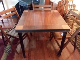 Wooden art deco folding table
