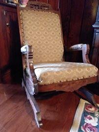 1880-1890 Eastlake platform rocking chair