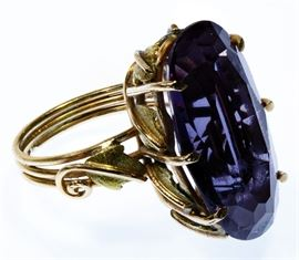 18k Gold and Amethyst Ring