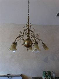 Vintage Brass Chandelier.