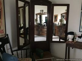 3 panel vintage tailors mirror