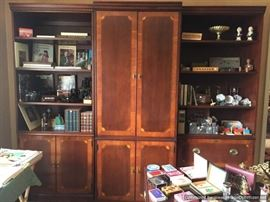 3 piece Hekman bookcases and partners desk