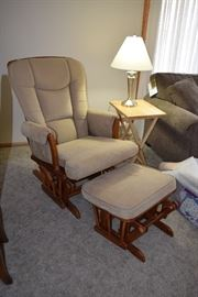 Glider Rocking Chair & Ottoman